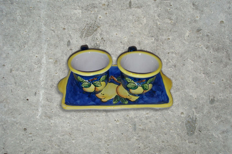 Set 2 tazze + vassoio