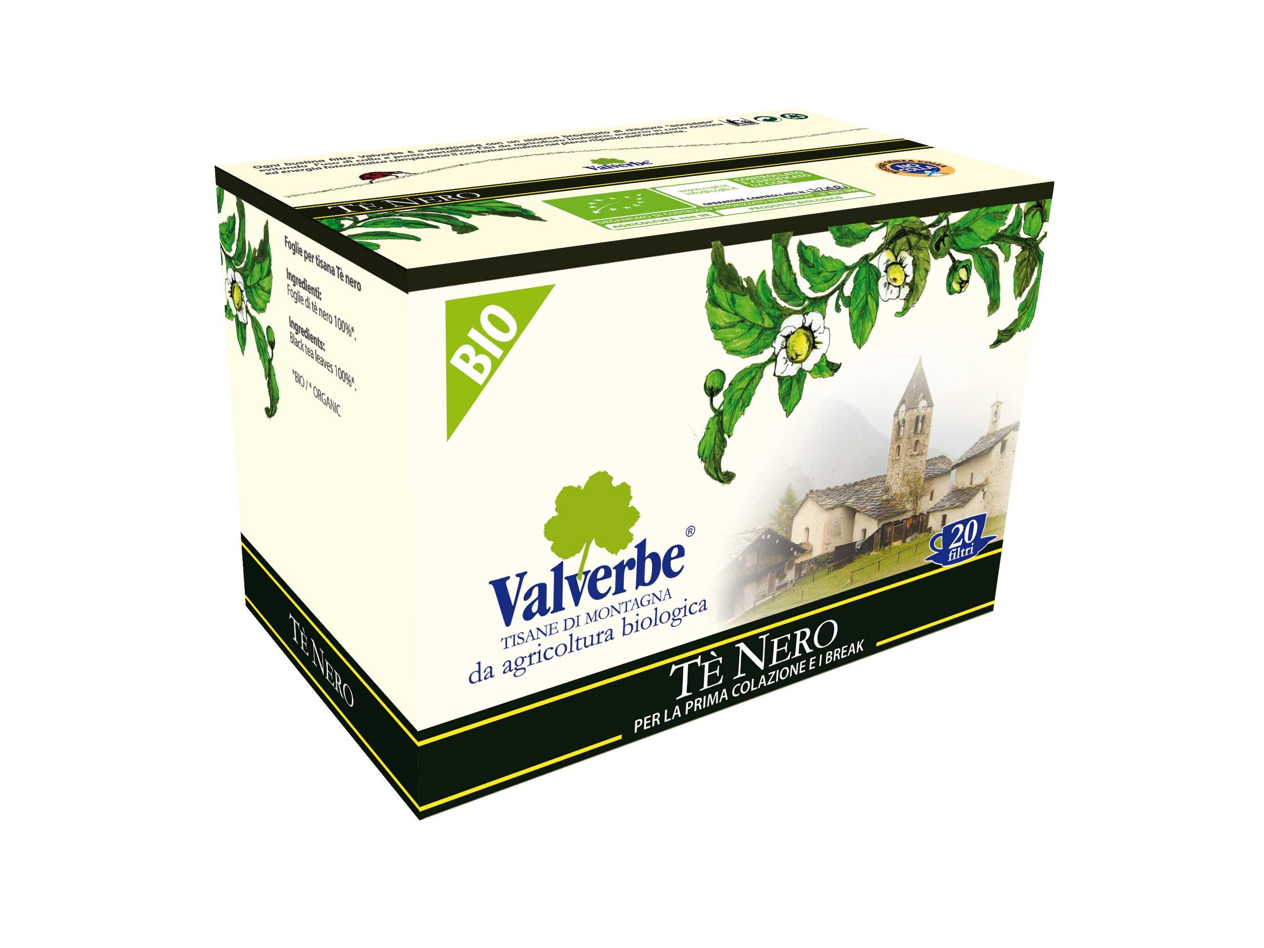 Valverbe Tisane Tè Nero Bio -...