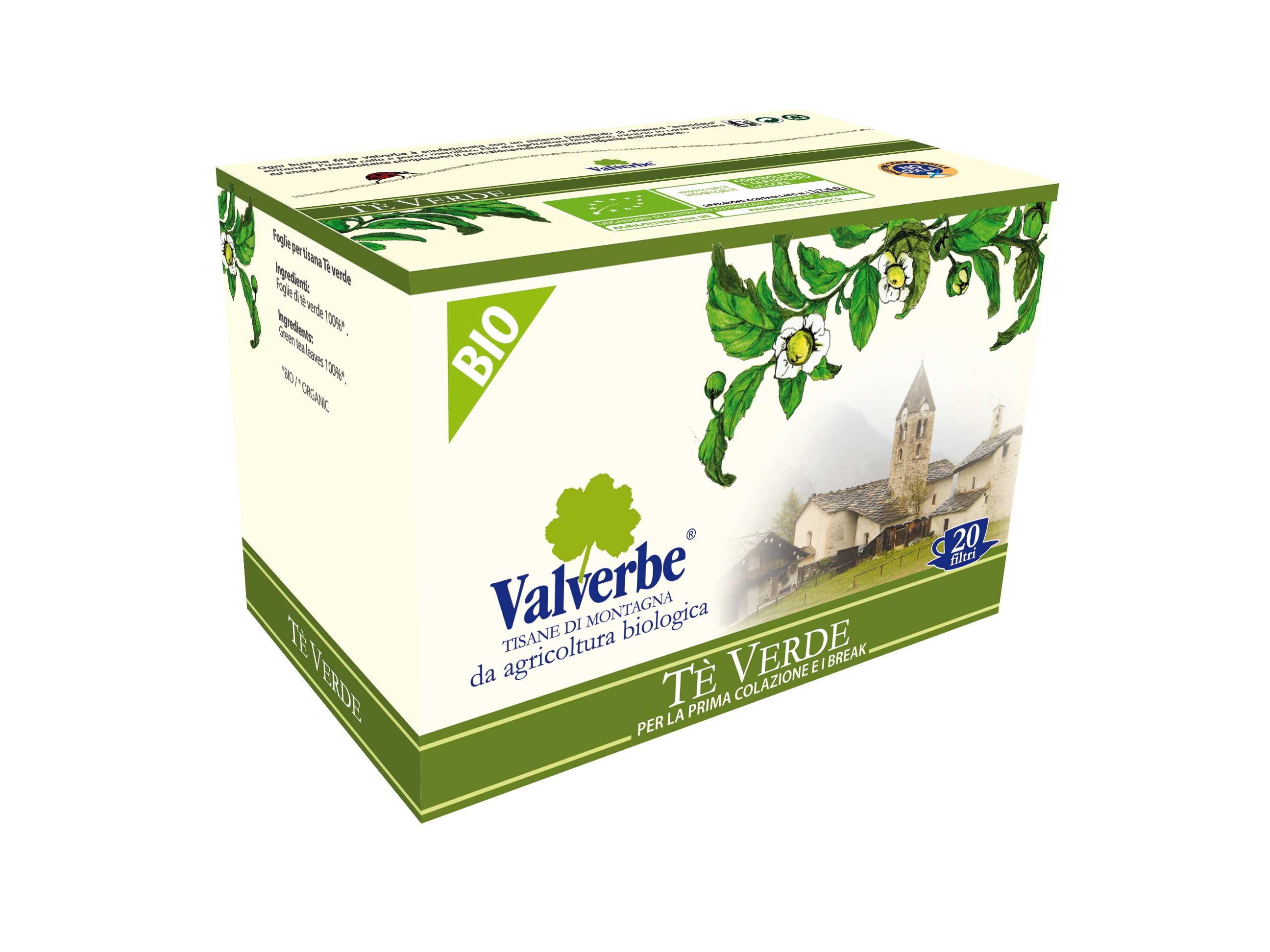 Valverbe Tisane Tè Verde Bio -...